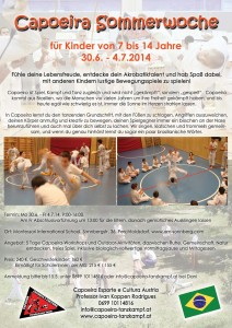 Plakat Capoeira Sommerwoche 150 RGB